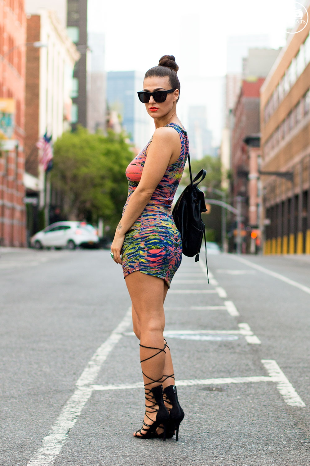 Mac Morange Orange Lipstick NYC Summer Outfit New York Streetstyle