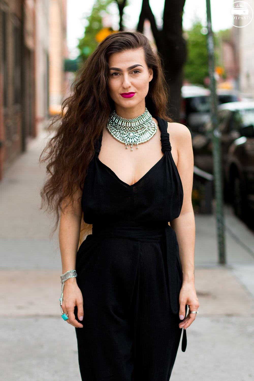 Silver Choker Collar Necklace Long Ombre Brown Hair Goth Blogger