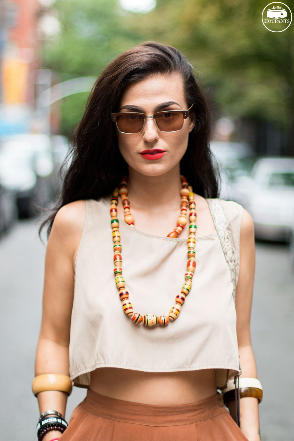 Do The Hotpants Dana Suchow Dharma Sunglasses Summer New York City Outfit Streetstyle Neutral Nude Fashion IMG_9729