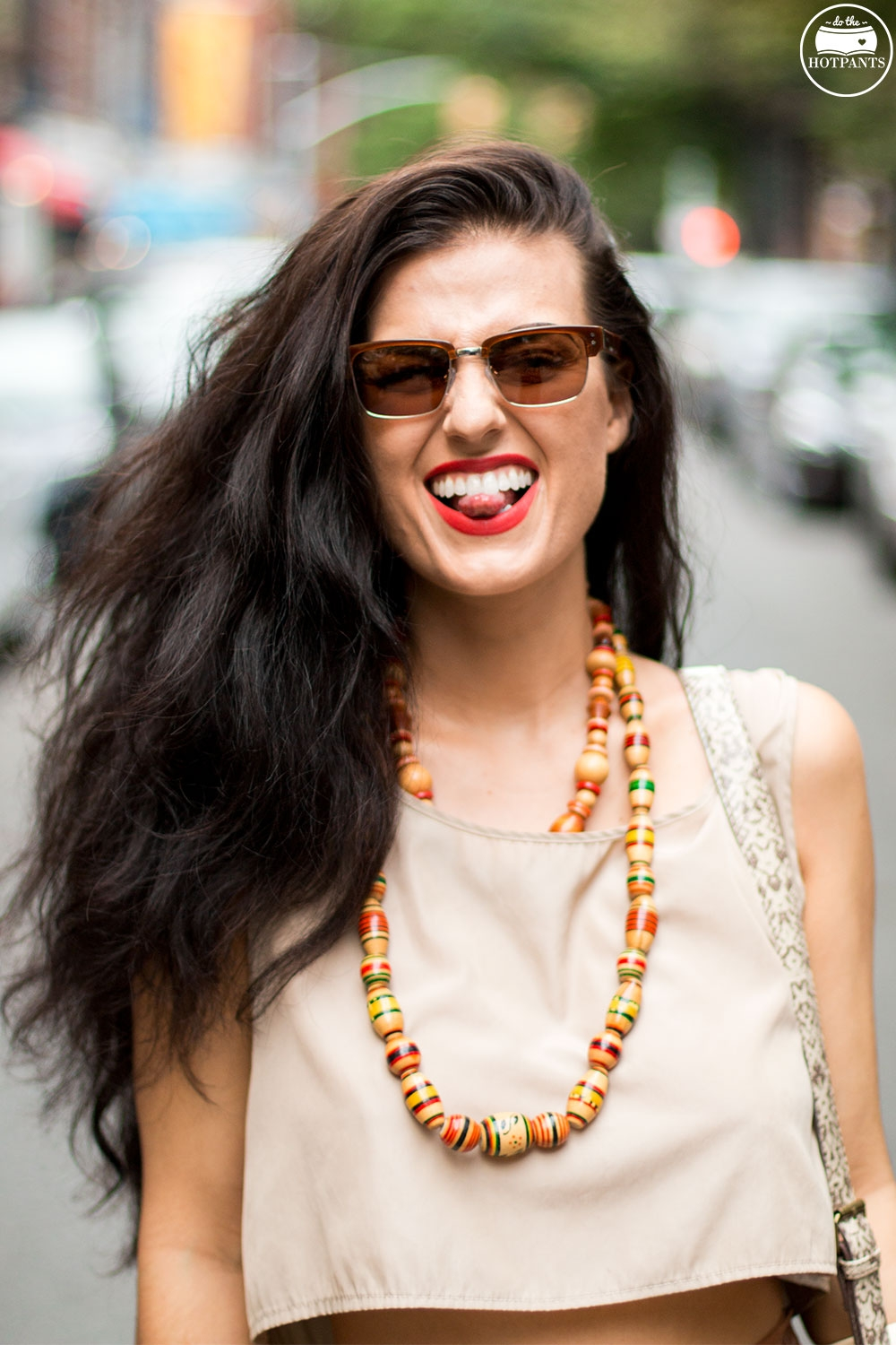 Do The Hotpants Dana Suchow Dharma Sunglasses Summer New York City Outfit Streetstyle Neutral Nude Fashion IMG_9743