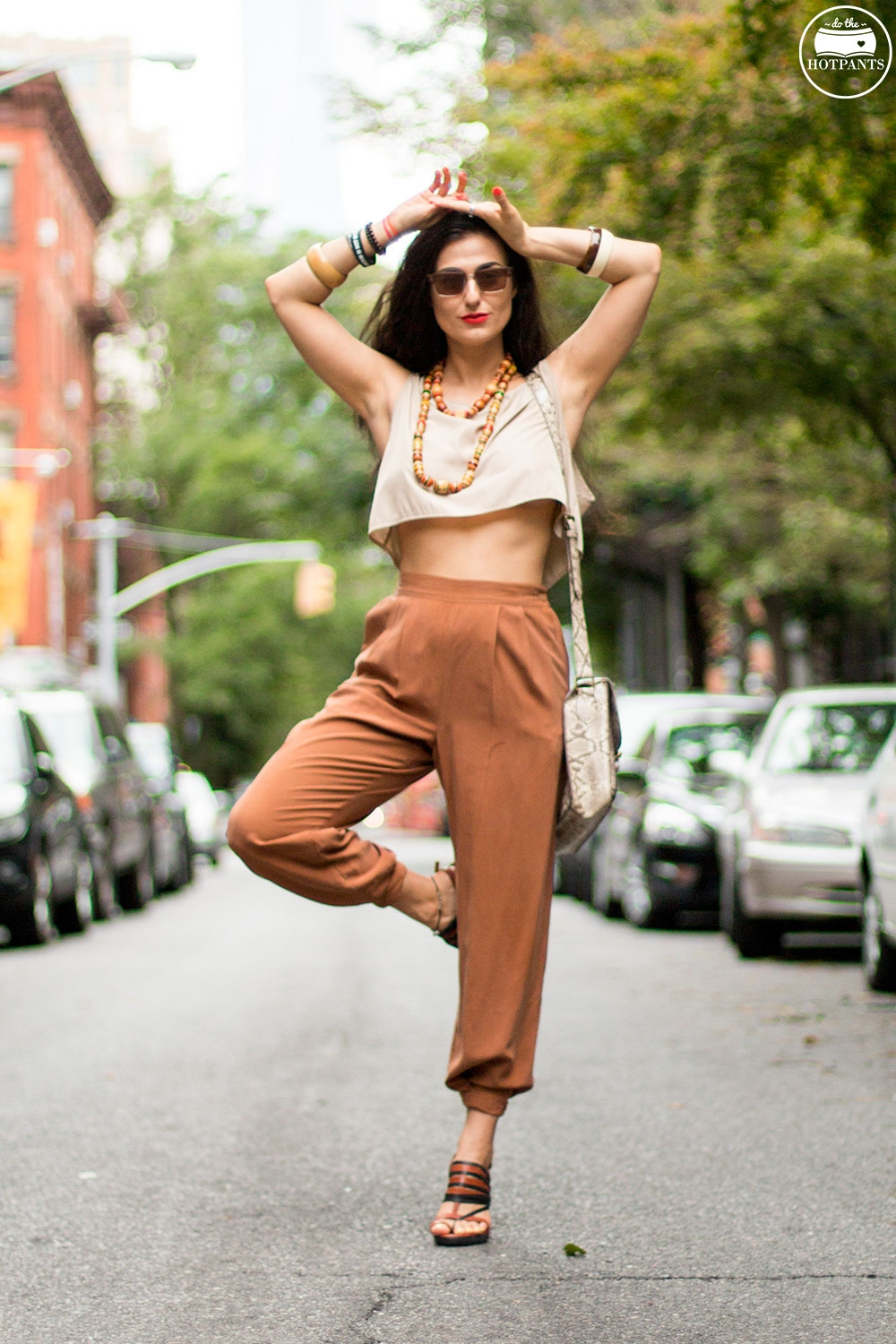 Do The Hotpants Dana Suchow Dharma Sunglasses Summer New York City Outfit Streetstyle Neutral Nude Fashion IMG_9813