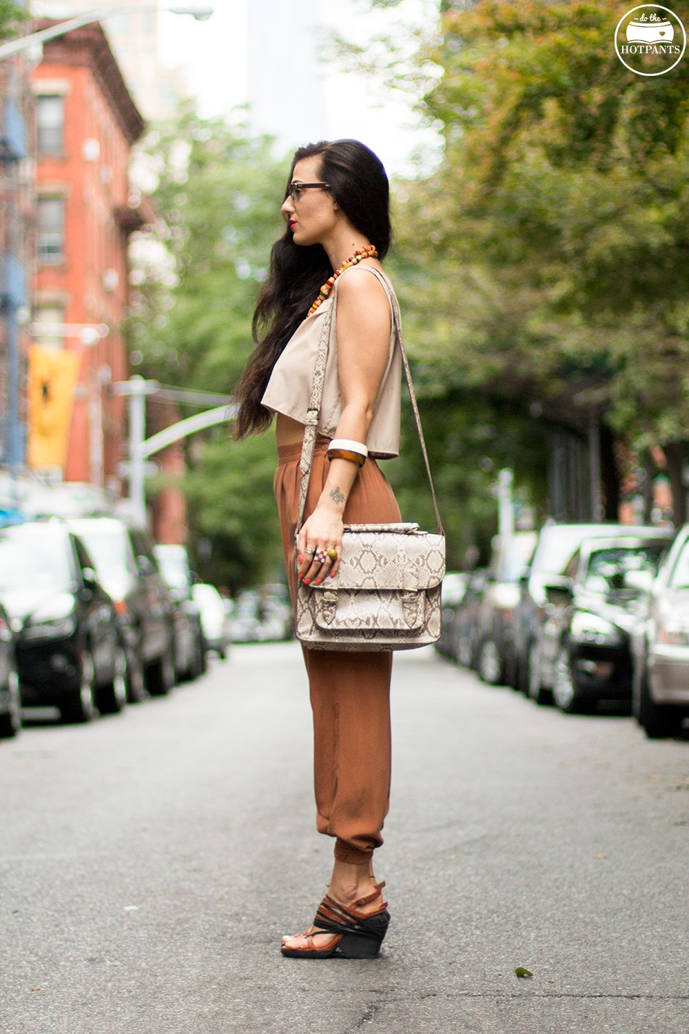 Do The Hotpants Dana Suchow Dharma Sunglasses Summer New York City Outfit Streetstyle Neutral Nude Fashion IMG_9824