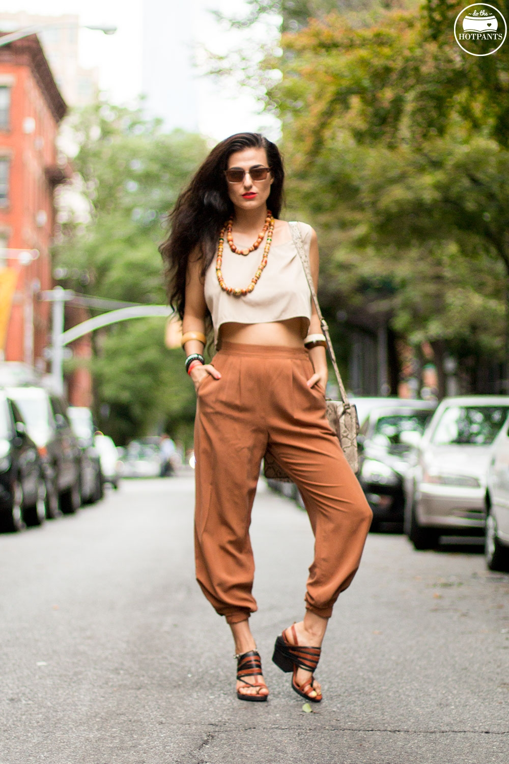 Do The Hotpants Dana Suchow Dharma Sunglasses Summer New York City Outfit Streetstyle Neutral Nude Fashion IMG_9858