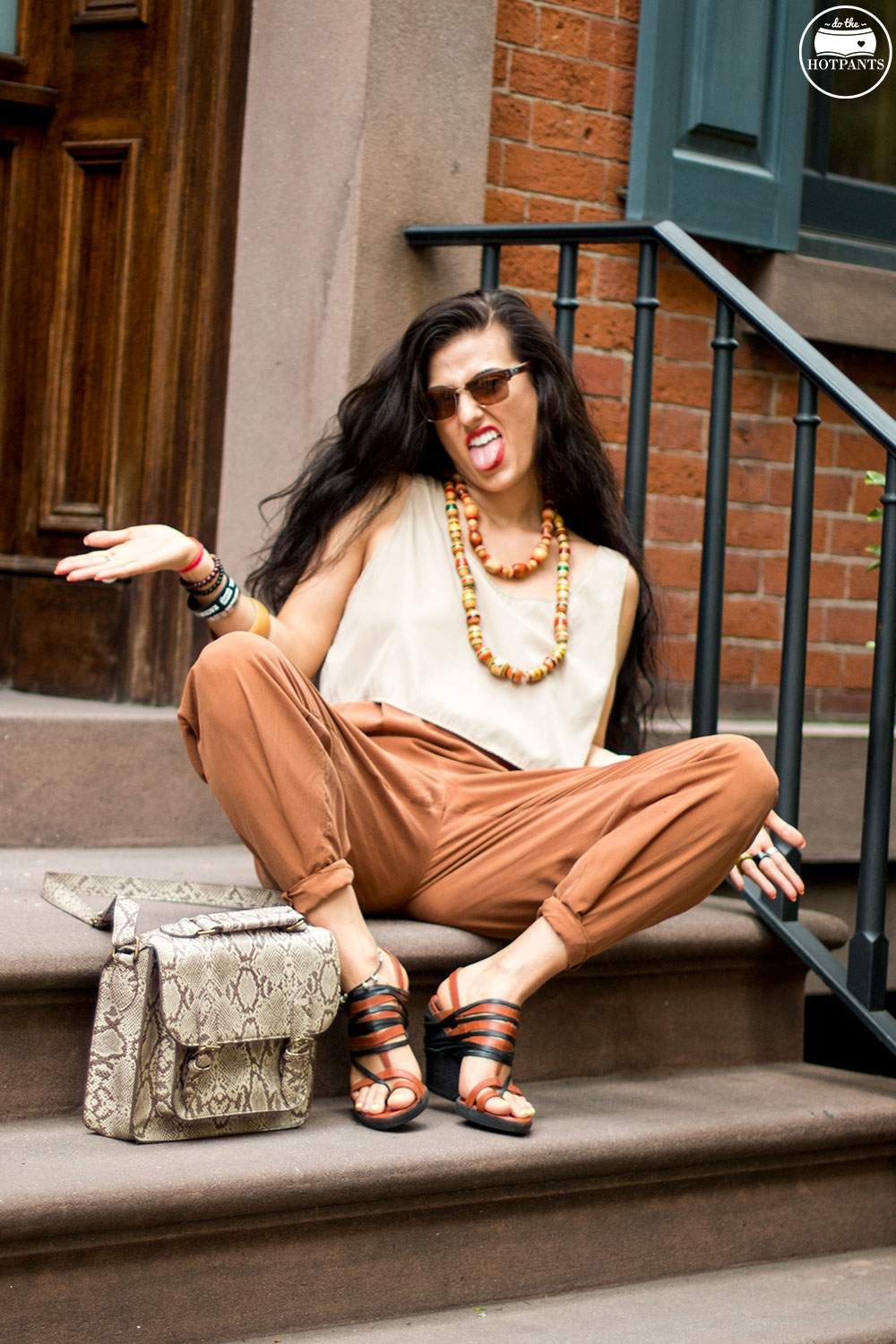 Do The Hotpants Dana Suchow Dharma Sunglasses Summer New York City Outfit Streetstyle Neutral Nude Fashion IMG_9881