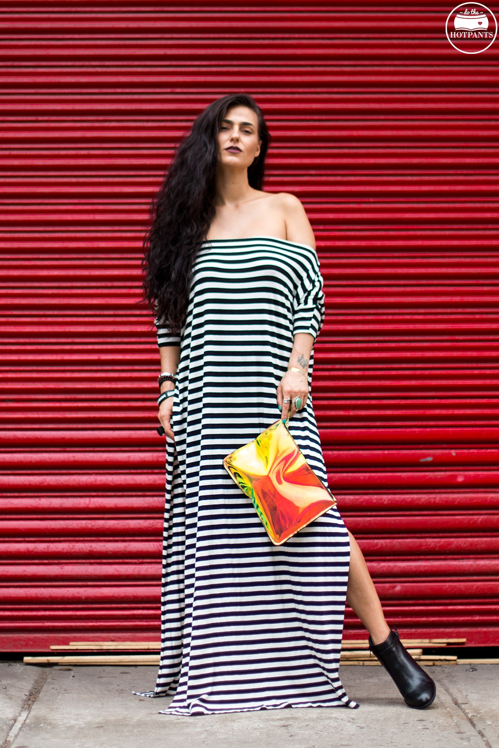 Do The Hotpants Dana Suchow Striped Maxi Dress Babooshka Boutique Curvy Woman Off Shoulder Dress IMG_0054