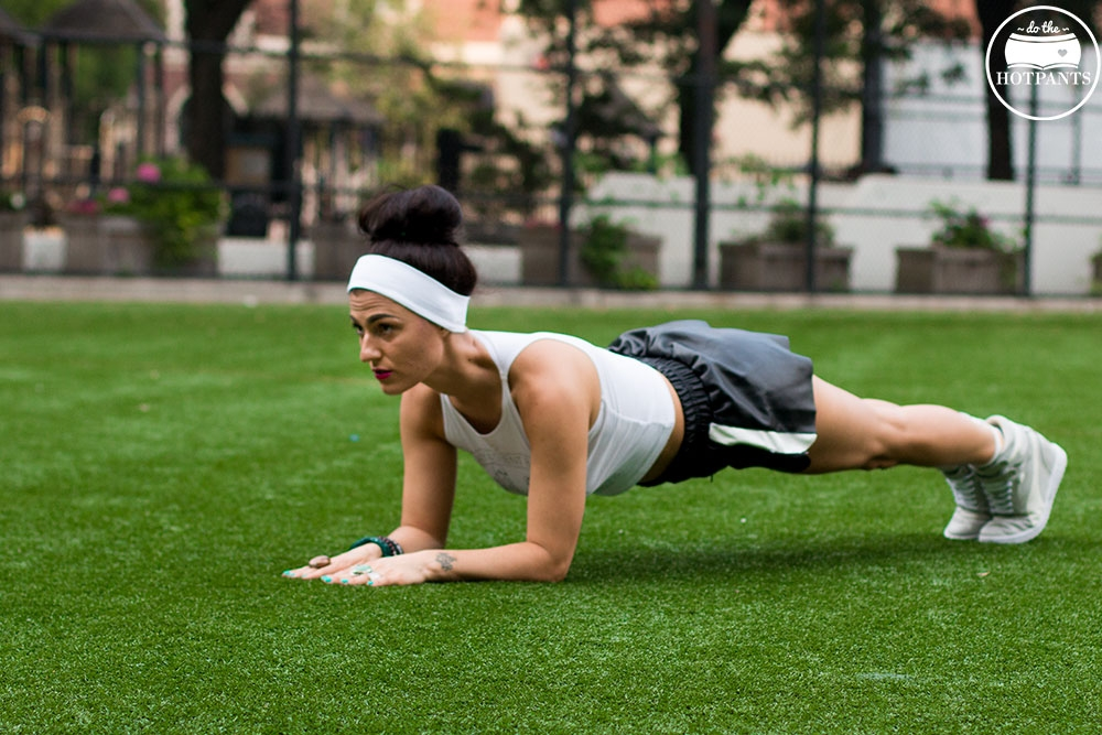 Fitness Fashion Photoshoot Strong Woman Planking Stretching Girl Running in Heels