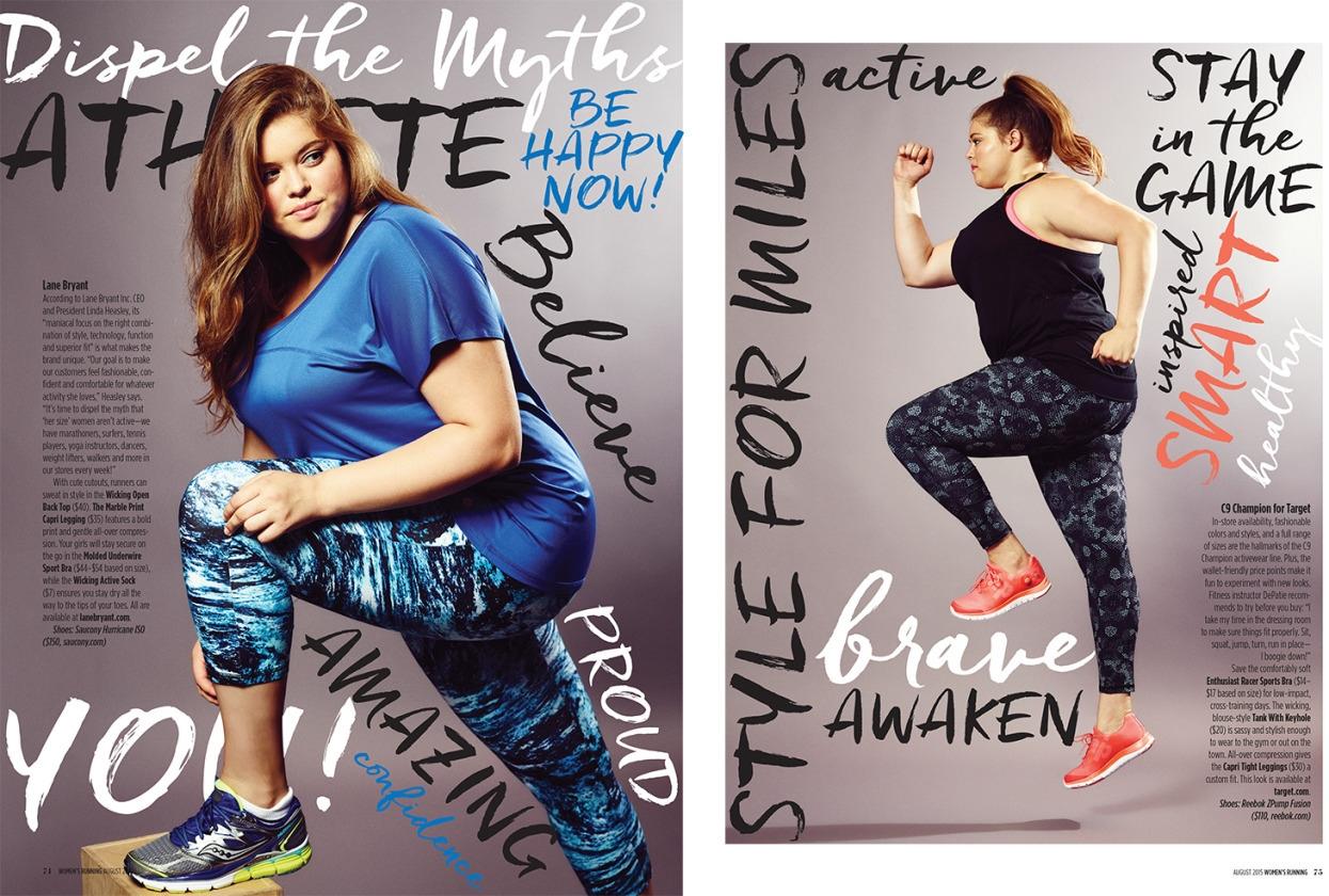 Fat Curvy Model Woman Runner's Magazine Fitness Health Runner