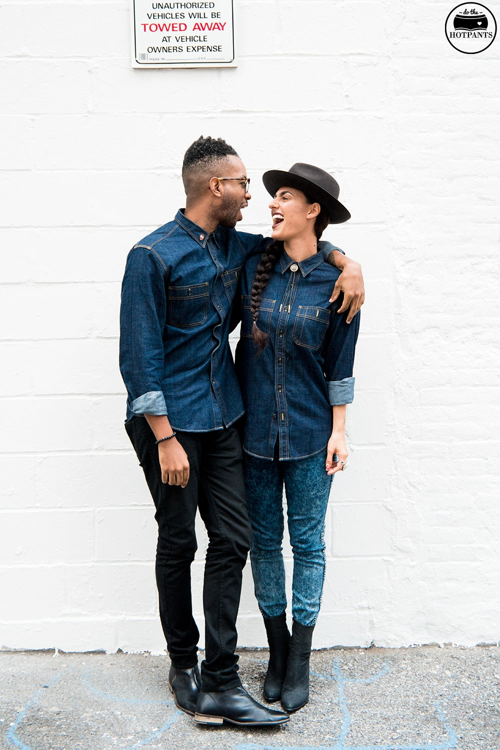 Matching Couple Outfit Interracial Dating JCrew Denim Outfit