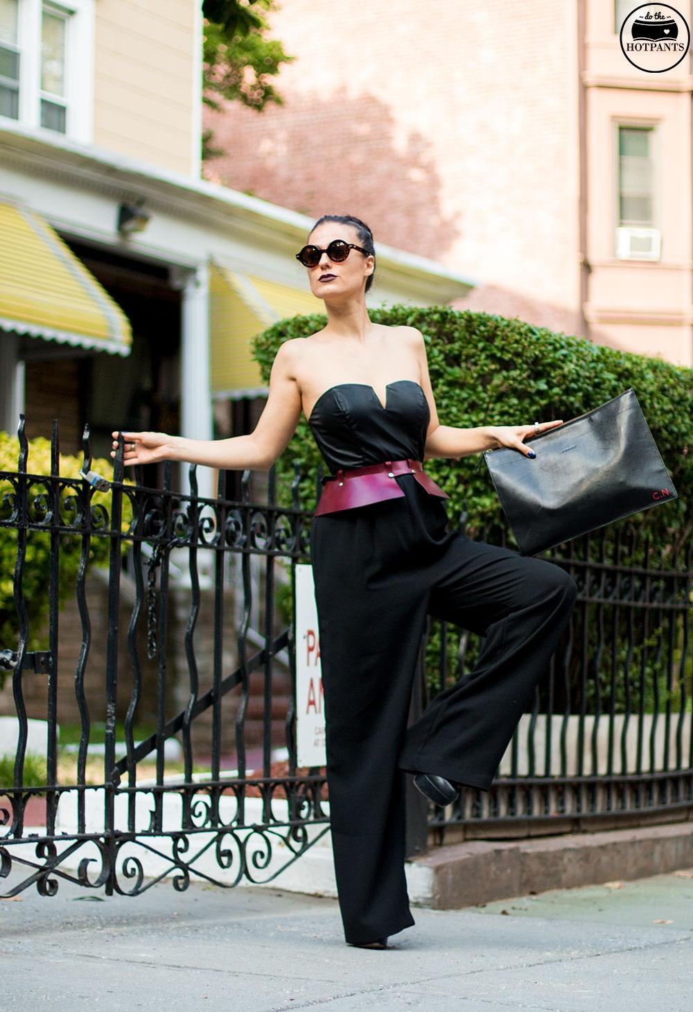 Do The Hotpants Dana Suchow Tube Top Black Jumpsuit Curvy Woman Zana Bayne Harness IMG_2288