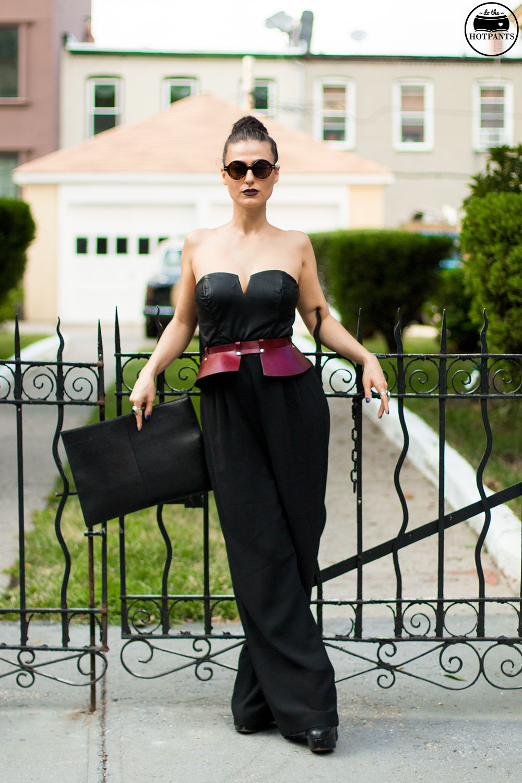 Do The Hotpants Dana Suchow Tube Top Black Jumpsuit Curvy Woman Zana Bayne Harness IMG_2302