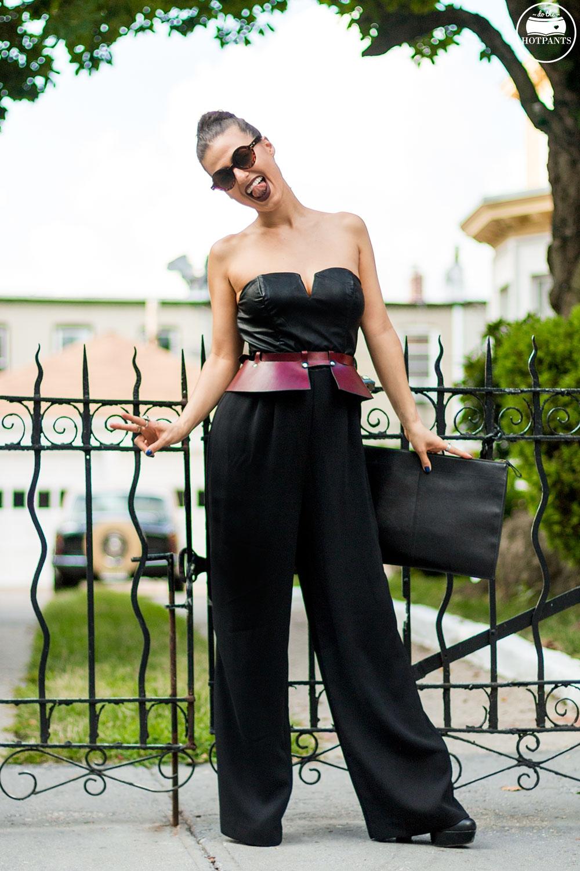 Do The Hotpants Dana Suchow Tube Top Black Jumpsuit Curvy Woman Zana Bayne Harness IMG_2316