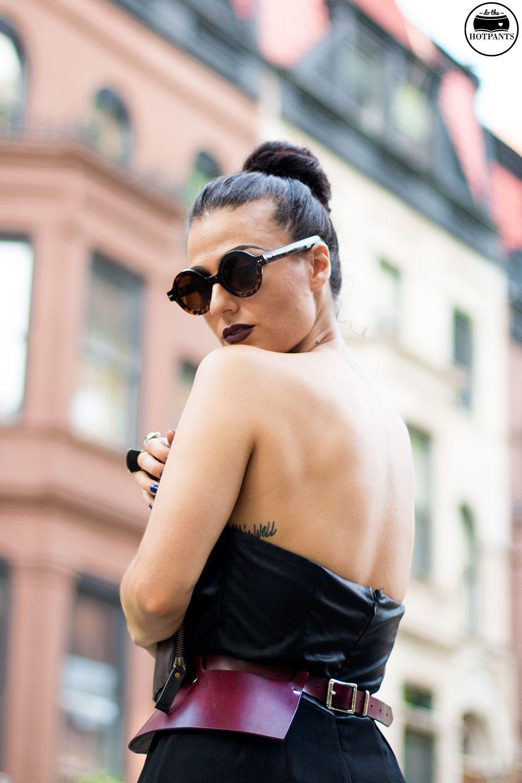Do The Hotpants Dana Suchow Tube Top Black Jumpsuit Curvy Woman Zana Bayne Harness IMG_2382