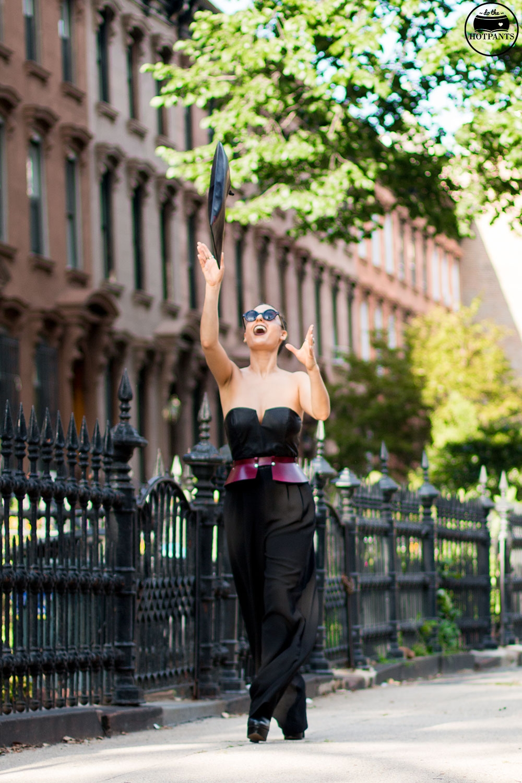 Do The Hotpants Dana Suchow Tube Top Black Jumpsuit Curvy Woman Zana Bayne Harness IMG_2436