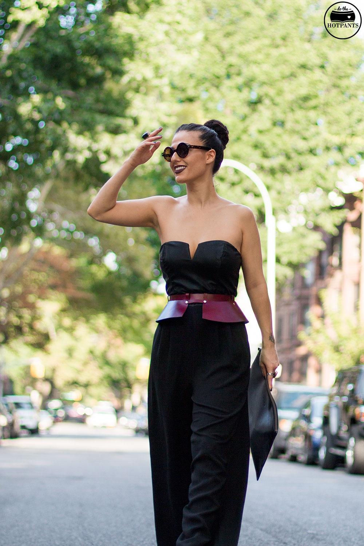 Do The Hotpants Dana Suchow Tube Top Black Jumpsuit Curvy Woman Zana Bayne Harness IMG_2465