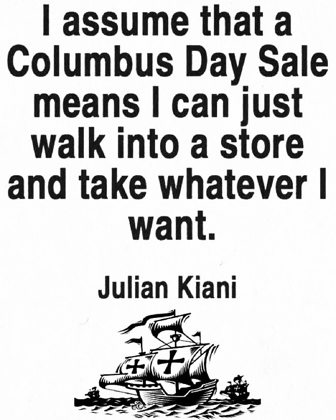 Columbus Day Sale Indigenous Peoples Day