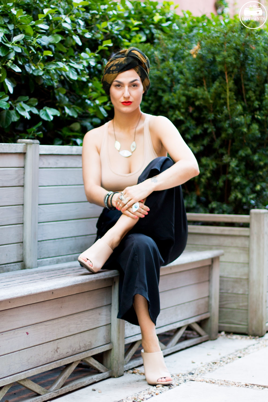 Do The Hotpants Dana Suchow Fashion Turban Nude Bodysuit Curvy Woman Black Culotte Pants IMG_1348