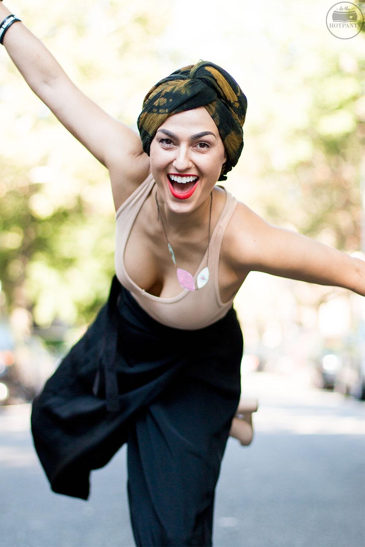 Do The Hotpants Dana Suchow Fashion Turban Nude Bodysuit Curvy Woman Black Culotte Pants IMG_1429