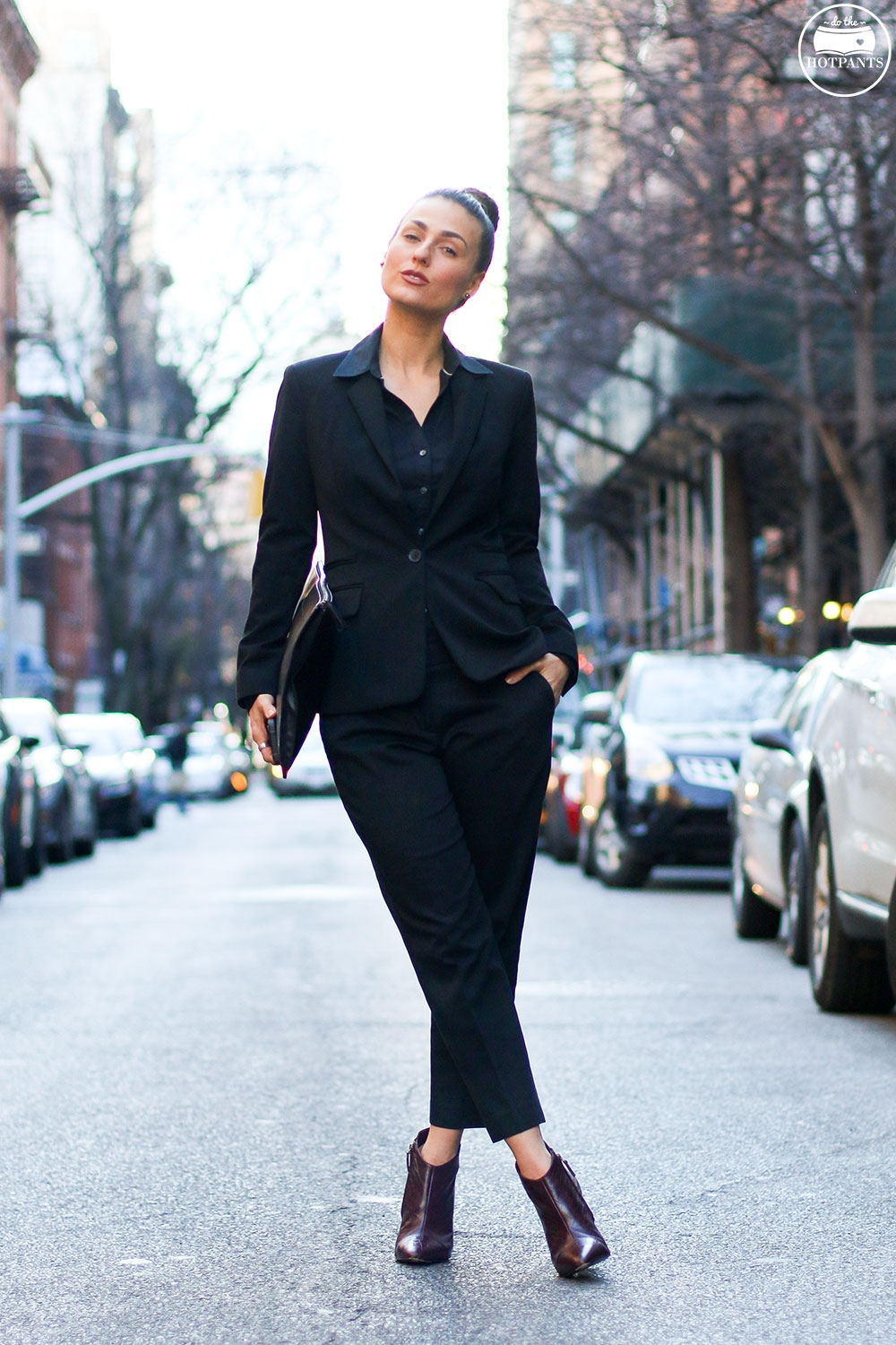 Do The Hotpants Dana Suchow Professional Outfit Interview Suit Woman in Suit Pantsuit Pant Suit Updo Female Business Attire IMG_6011