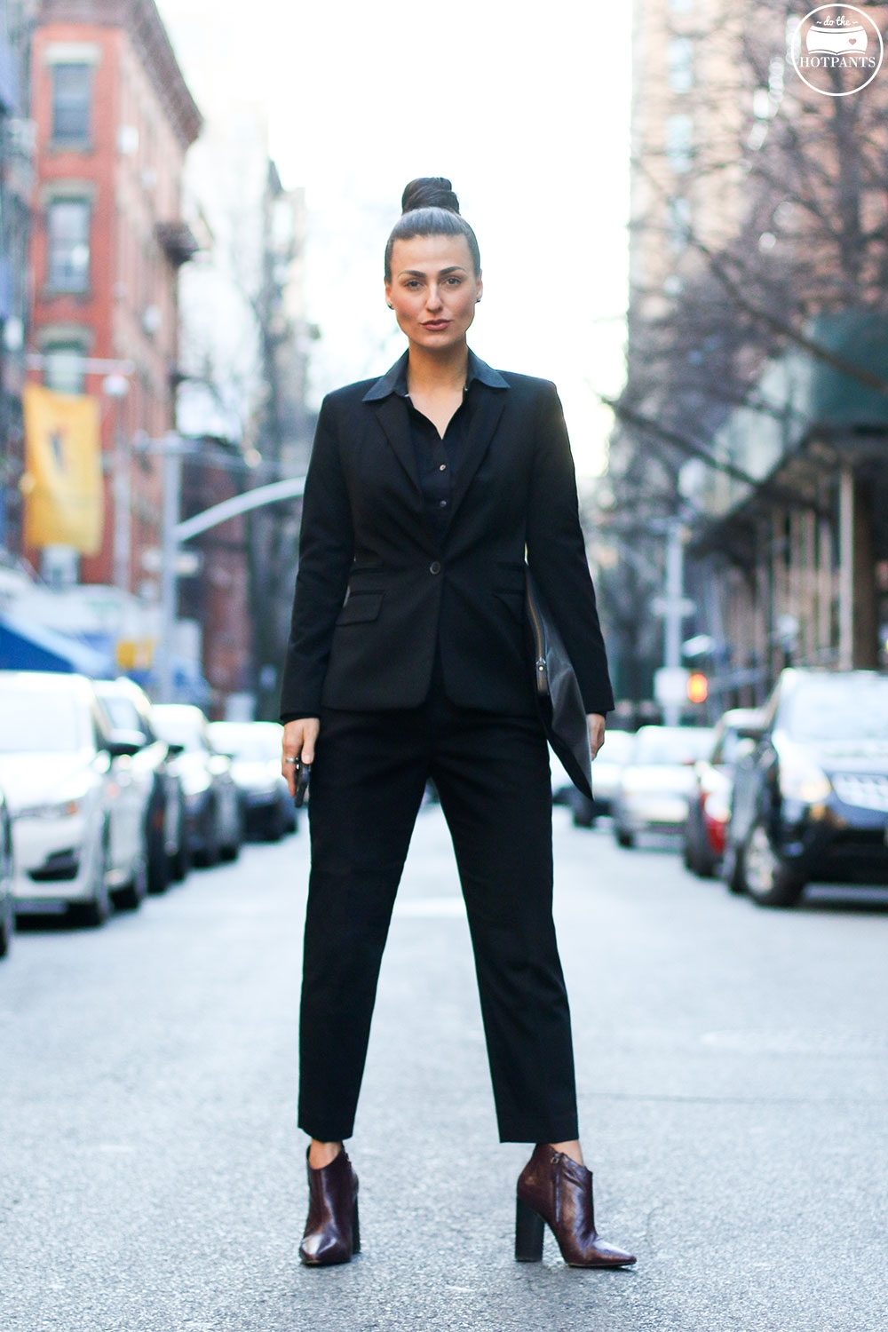 Do The Hotpants Dana Suchow Professional Outfit Interview Suit Woman in Suit Pantsuit Pant Suit Updo Female Business Attire IMG_6064