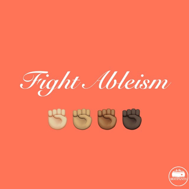fight ableism body positive quote