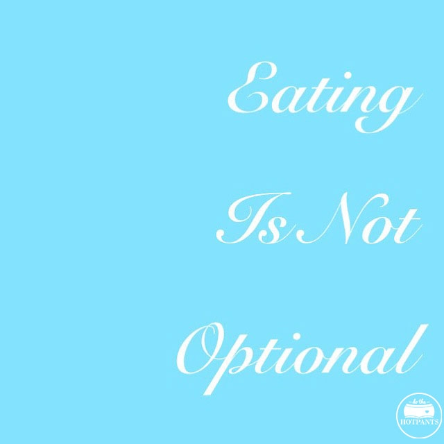 eating is not an option body positive quote