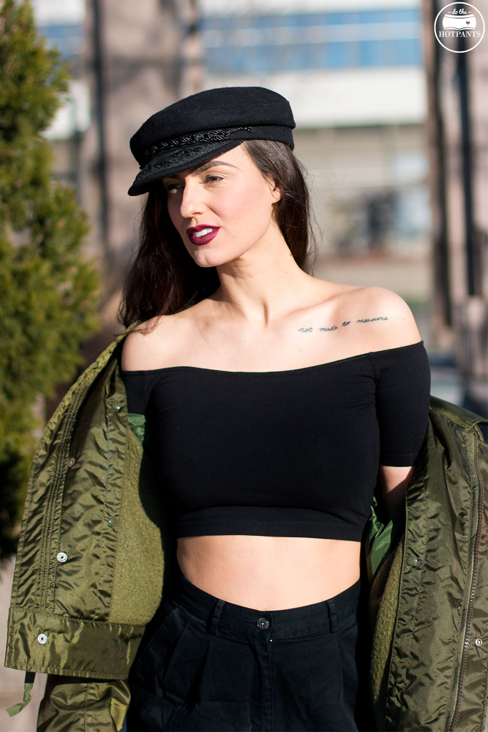 Do The Hotpants Dana Suchow Bomber Jacket Crop Top Thigh Highs Curvy Woman NYC Fashion IMG_8245